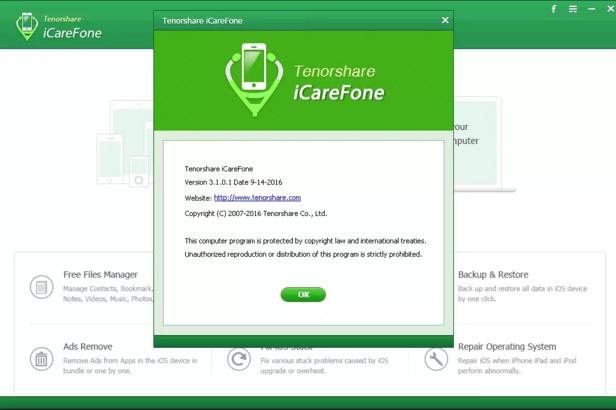 enorshare iCareFone crack activation key