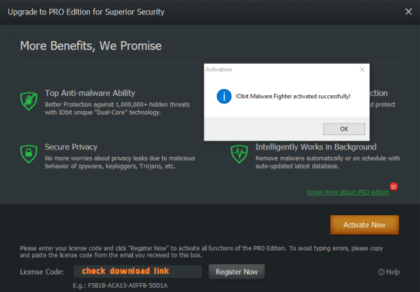 iobit malware fighter crack product key