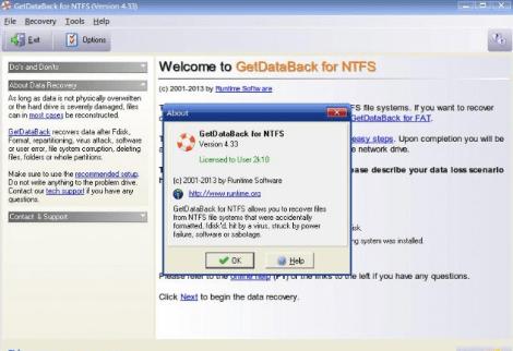 GetDataBack Crack registration key